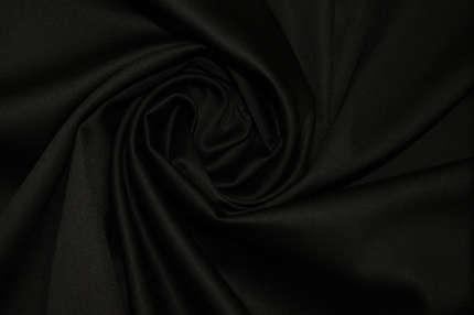 Сатин стрейч хлопковый черный