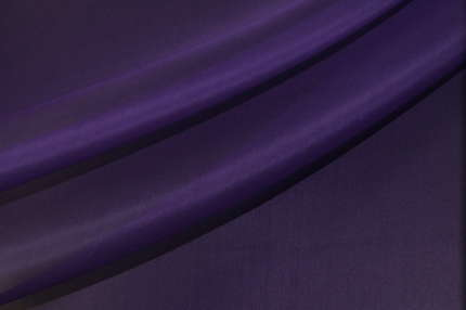 Органза шелковая фиолетовая
