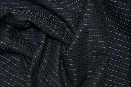 Дикий шелк дюпион (шандунг) чёрный