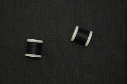 Лён плательно-костюмный чёрно-серый