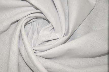 Лён плательно-блузочный бело-серый