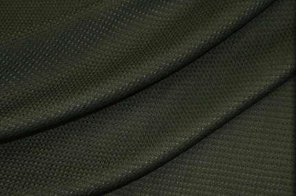 Шёлк плательно-костюмный тёмно-зеленый