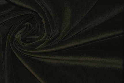 Бархат хлопковый тёмно-зеленый