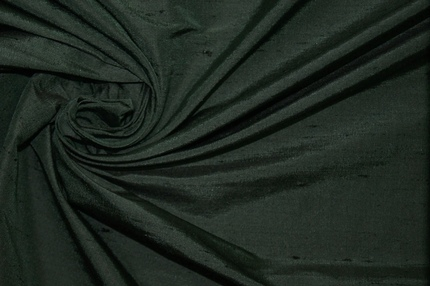 Дикий шелк дюпион (шантунг) тёмно-зелёный