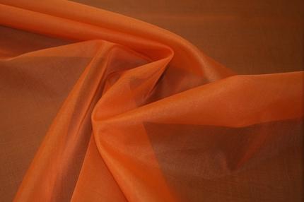 Органза шелковая оранжевая