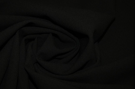 Креп шерстяной черный