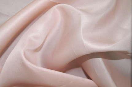 Органза шёлковая плотная розовая