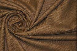 Шёлк плательно-костюмный коричневый