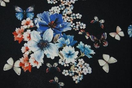 "Вискоза штапель ""Бабочки"""