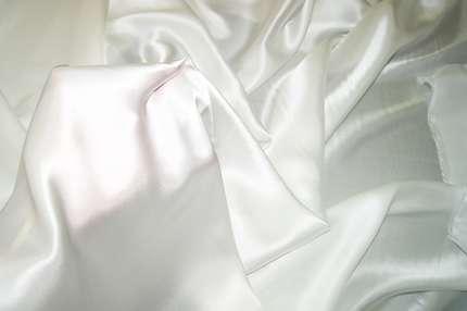 Атлас шелковый отбеленный (креп-сатин)