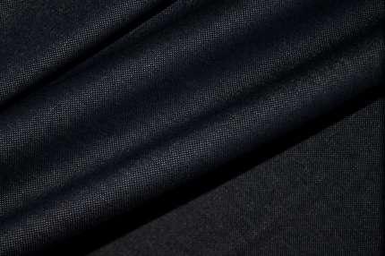Трикотаж хлопковый темно-синий