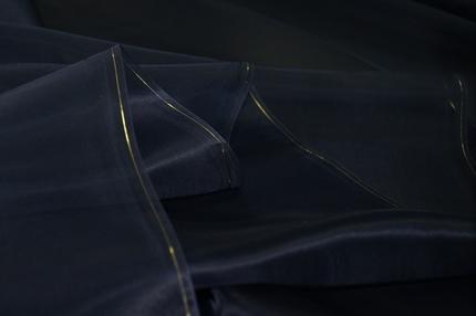Органза шелковая синяя