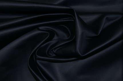 Атлас корсетный хлопковый тёмно-синий
