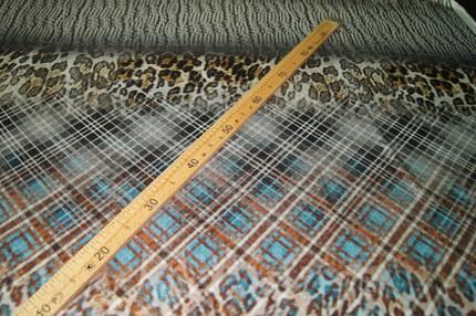 Атлас шелковый набивной с эластаном (купон)