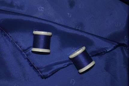 Вискоза подкладочная синяя
