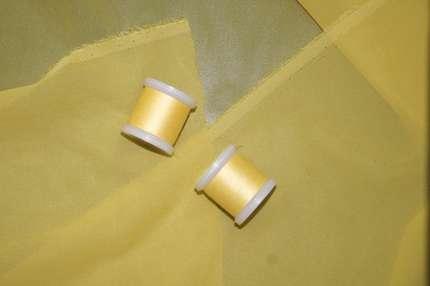 Шифон шелковый жёлтый стрейч