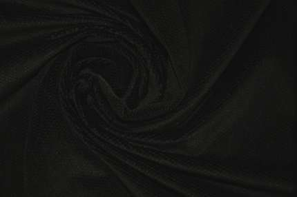 Бархат хлопковый фактурный черный