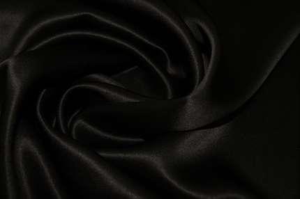 Атлас шёлковый черный