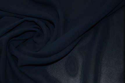 Шифон шелковый синий