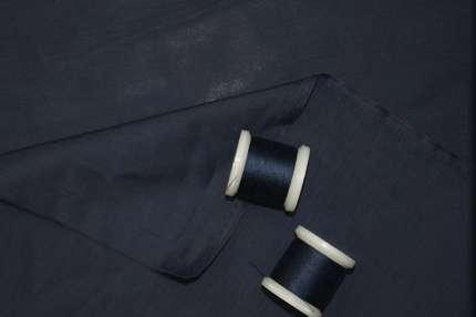 Батист шелковый синий
