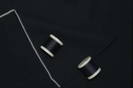 Кади стрейч шелковый тёмно-синий