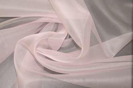 Органза шелковая розовая
