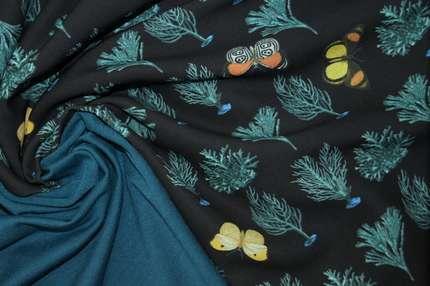 """Плательная ткань кади """"бабочки"""""""