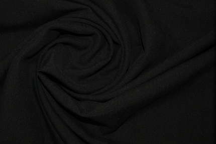 Плательный фактурный чёрный шелк