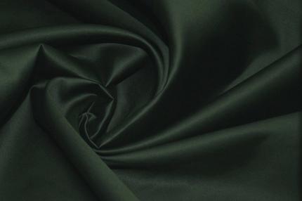 Сатин хлопковый тёмно-зелёный