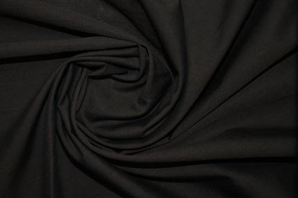 Батист хлопковый тёмно-коричневый