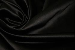Атлас корсетный (дюшес) шелковый черный