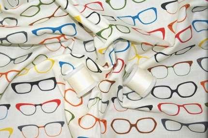 """Хлопок набивной """"очки"""""""