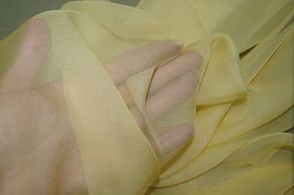 Шифон шелковый жёлтый