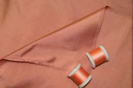 Дикий шёлк дюпион (шантунг) персиковый