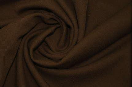 Шерсть диагональ стрейч коричневая