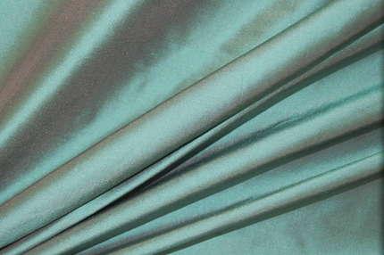 Дикий шелк дюпион (шантунг) бирюзовый хамелеон