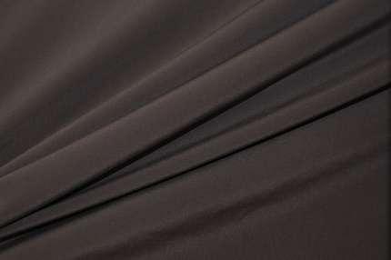 Крепдешин шёлковый тёмно-серый стрейч