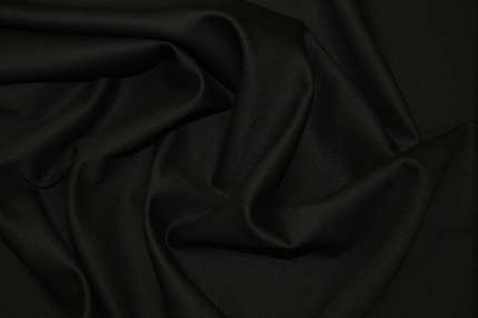 Шерсть плательно-костюмная стрейч черная