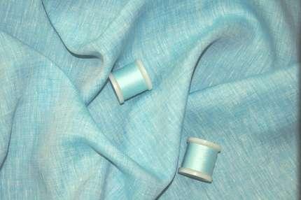 Лён плательно-сорочечный светло-бирюзовый
