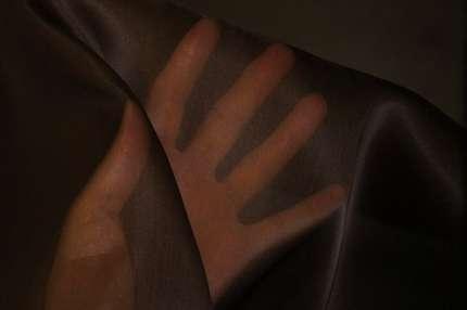 Органза шёлковая коричневая