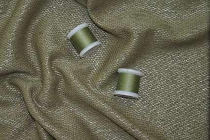 Трикотаж хлопковый фактурный оливковый
