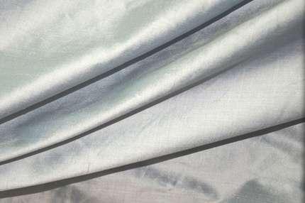 Дикий шёлк дюпион (шантунг) светло-голубой