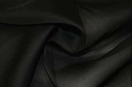 Органза шелковая черно-серая