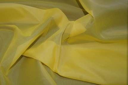 Органза шелковая жёлтая