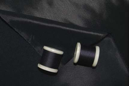 Подкладочная вискоза стрейч темно-синяя