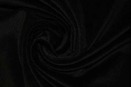 Бархат фактурный хлопковый черный