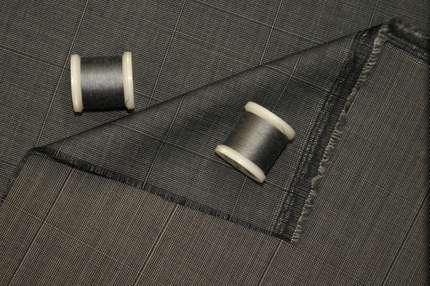 Шерсть плательно-костюмная клетка