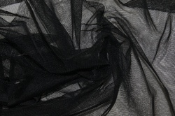 Сетка мягкая черная / фатин